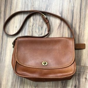 Coach Vintage 80's Warm Brown Leather City Bag